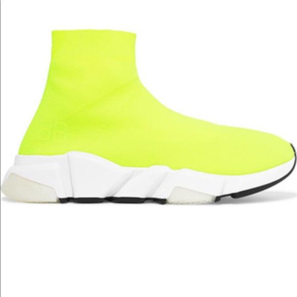 Neon Yellow Balenciaga Sock Runner
